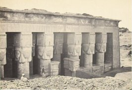 """Portico of the Temple of Dendera,"" in the book Egypt and Palestine, 2 vols., by Francis Frith (London: James S. Virtue, 1858-1859); volume II of II"