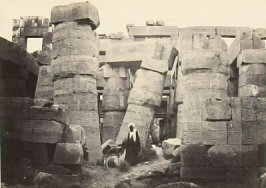 """Pillars in the Great Hall, Karnac,"" in the book Egypt and Palestine, 2 vols., by Francis Frith (London: James S. Virtue, 1858-1859); volume II of II"