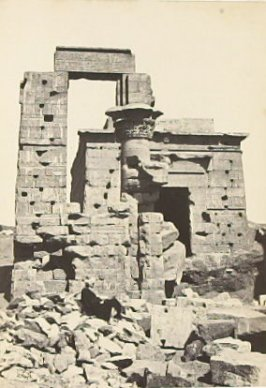 """Cleopatra's Temple at Erment,"" in the book Egypt and Palestine, 2 vols., by Francis Frith (London: James S. Virtue, 1858-1859); volume II of II"