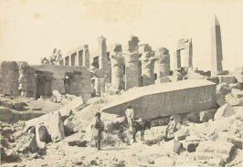 """The Broken Obelisk, Karnac,"" in the book Egypt and Palestine, 2 vols., by Francis Frith (London: James S. Virtue, 1858-1859); volume II of II"