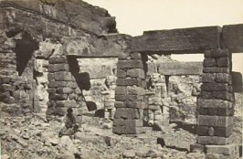 """Portico of the Temple of Gerf Hossayn, Nubia,"" in the book Egypt and Palestine, 2 vols., by Francis Frith (London: James S. Virtue, 1858-1859); volume II of II"