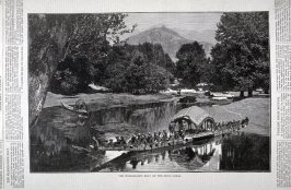 The Maharajah's Boat on the Dhul Canal, from Harper's Weekly (December 27, 1873, p. 1173)