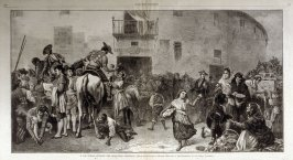 A Los Toros - Outside the Bullring, Granada, from Harper's Weekly (August 20, 1873, pp. 760-761)