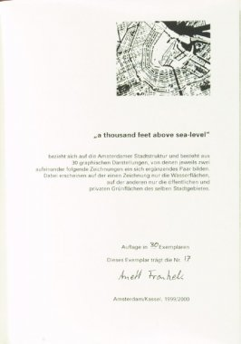 "Colophon page in the book ""a thousand feet above sea-level"" (Amsterdam/ Kassel: 1999/2000)"