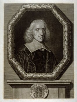 Portrait of a man in octagonial frame