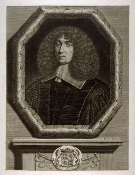 Portrait of a man in octagonal frame