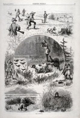 Fall Sporting, from The Harper's Weekly, (January 6. 1877), p. 13