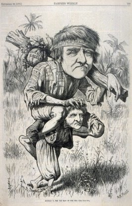 Sindbad T., The Old Man of the Sea - p.793 Harper's Weekly 30 September 1876