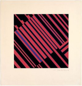 Untitled (Black, Red and Blue Abstract)