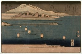 Evening Snow on Mt. Hira (Hira bosetsu) from an untitled series of Eight Views of Lake BiwaKeiko