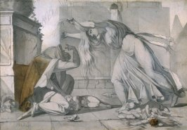 Recto: Bereaved Mother Mourning After the Massacre of the Innocents Verso: An Assassin Fleeing