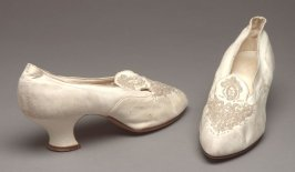 Pair of wedding shoes (with 1981.54.a and .4)