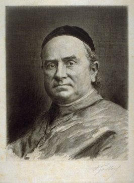 Portrait of Monseigneur Pie, Bishop of Poitiers (unfinished proof)