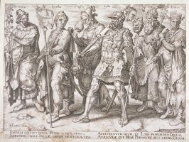 Set of 6 engravings: Allegorical subjects: 3. Phthyus, Lucullus, Cassus, Sylla, Croesus, Midas