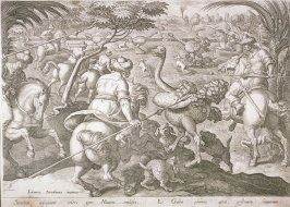 Ostrich Hunt, from the series Venationes Ferarum, Avium, Piscium