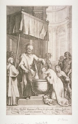 The Apostle Peter Baptizing Saint Prisca