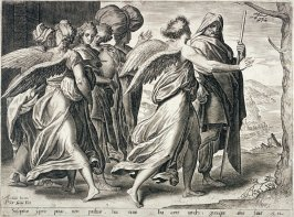 Two Angels and four women with men