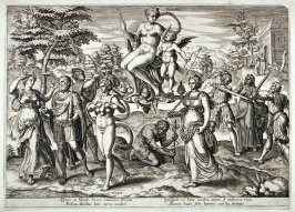 Natura and Voluptius carrying Poemina
