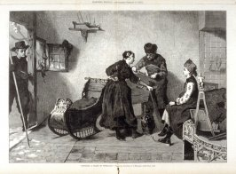 """Grinding a skate in Friesland""- from Harper's Weekly,17 February 17. 1877), pp. 138-139"