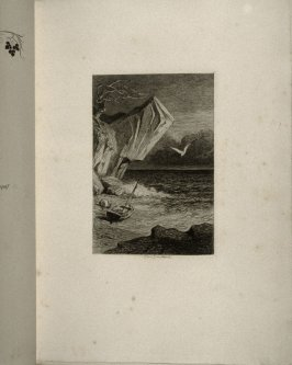 La mer (The Sea), first etching in the book, Sonnets et eaux-fortes (Sonnets and Etchings) ed. by Philippe Burty (Paris: Alphonse Lemerre, 1869)