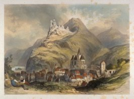 "Trarbach, on the Moselle from Stanfield, Clarkson ""Sketches on the Moselle, the Rhine and the Meuse"""