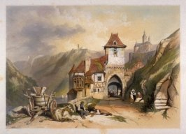 "Castle of Maren Plate 6 from Stanfield, Clarkson ""Sketches on the Moselle, the Rhine and the Meuse"""