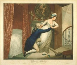 Plate 5: The Modest Girl Rejects the Illicit Addresses of Her Master, from the series 'Dilligence and Dissipation'