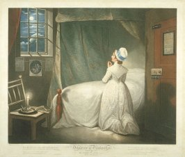Plate 4: The Modest Girl in Her Bed Chamber, from the series 'Diligence and Dissipation'