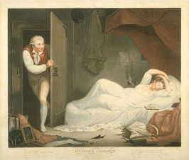 Plate 3: The Wanton in her Bed Chamber, from the series 'Diligence and Dissipation'