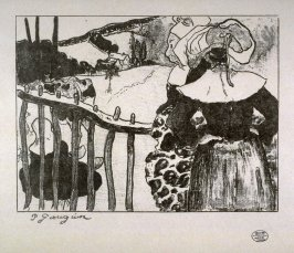 Bretonnes a la Barriere [Breton Women at a Fence]