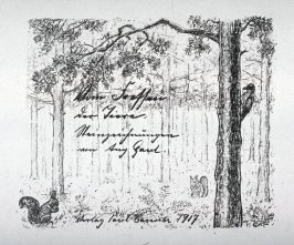 Title page from Set of 15 lithographic studies of Animals