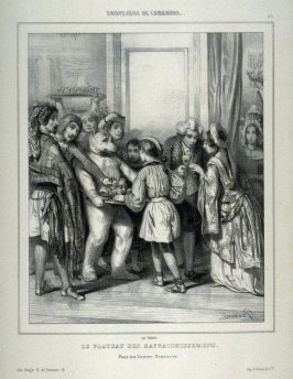 """Le Plateau des Rafraichissemens""; no. 3 from the series ""Souvenirs du Carnaval"" (A Plate of Refreshments)"