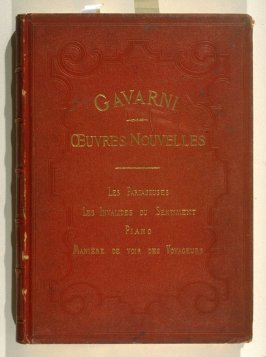 title from front cover: Oeuvres nouvelles ([Paris: Librairie Nouvelle, ca. 1840], [vol. 1 (indicated by * at foot of spine)]
