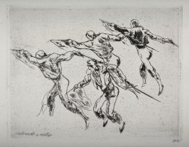 #1 - Series of 10 Etchings (DP) and Title of Bull Fight scenes as follows: Entrando a Matar