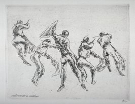 #3 - Series of 10 Etchings (DP) and Title of Bull Fight scenes as follows: Entrando a Matar