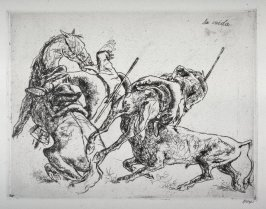 Series of 10 Etchings (DP) and Title of Bull Fight scenes as follows: La (Carda) Caida