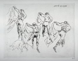 Series of 10 Etchings (DP) and Title of Bull Fight scenes as follows: #3 Suerta de Capa