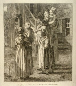 Group of people in front of a house