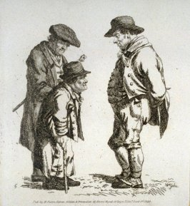 Three men in conversation