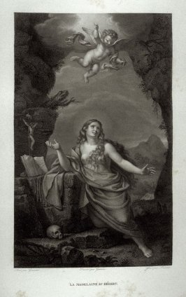 La Madeleine au Desert (Mary Magdalen in the Desert)...seventeenth plate in the book... Le Musée royal (Paris: P. Didot, l'ainé, 1818), vol. 2