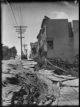 Untitled (Earthslip on San Francisco's Union Street)