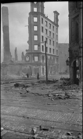 Untitled (Remains of Hearst Building at Market Street and Third Street)