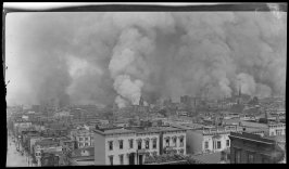 Untitled (View of the burning city from Broadway west of Taylor, San Francisco)