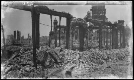 Untitled (City Hall through the ruins of the St. Nicholas Hotel, Market and Larkin Streets, San Francisco)