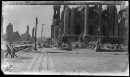 Untitled (ruins of City Hall, Larkin Street at Hayes)