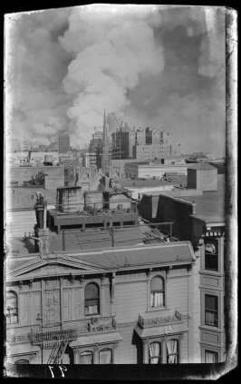 Untitled (View Downtown from Pleasanton Hotel, Sutter and Jones Streets, San Francisco)