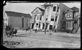 Untitled (A block of Howard Street near 18th Street in the Mission District, after the earthquake and fire)
