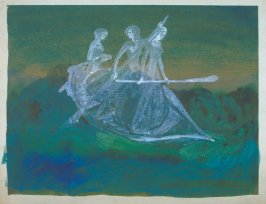 Three female ghosts in a boat