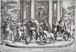 St. Martina Refusing to Worship Jupiter, from the series The Martyrdom of St. Martina