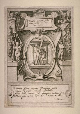 Titleplate: Christ in the Winepress [Isa. 63:3], from The Passion series